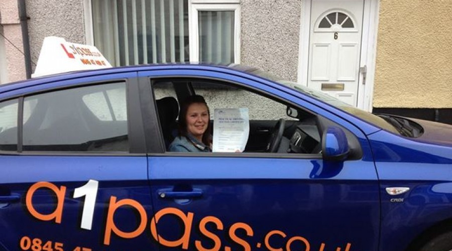 Kim Gosney Passed with A1Pass Driving School
